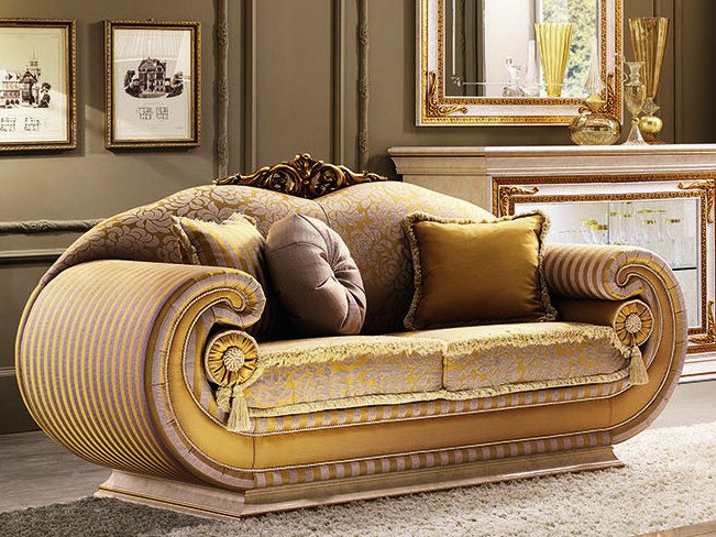 2 seater fabric sofa LEONARDO | Sofa by Arredoclassic