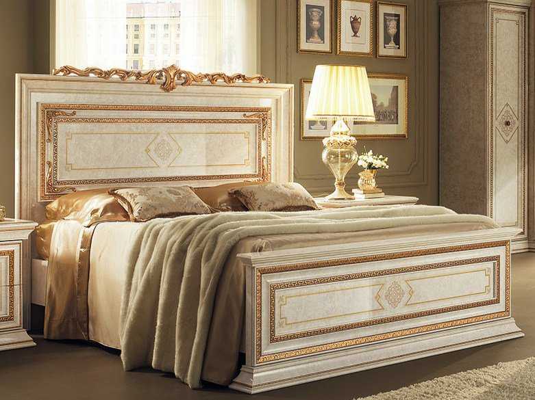 Double bed with high headboard LEONARDO | Bed by Arredoclassic