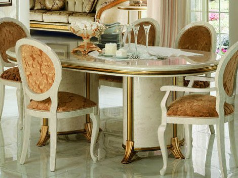 Classic style oval wooden dining table MELODIA | Table by Arredoclassic