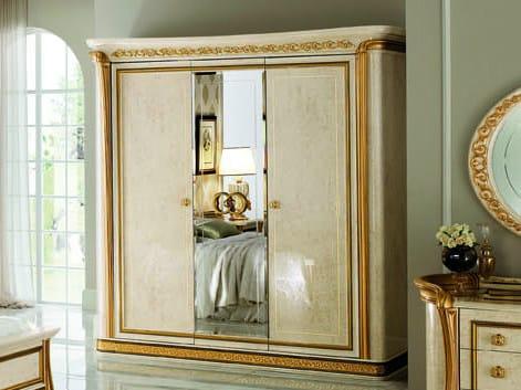 Mirrored wooden wardrobe MELODIA | Mirrored wardrobe by Arredoclassic