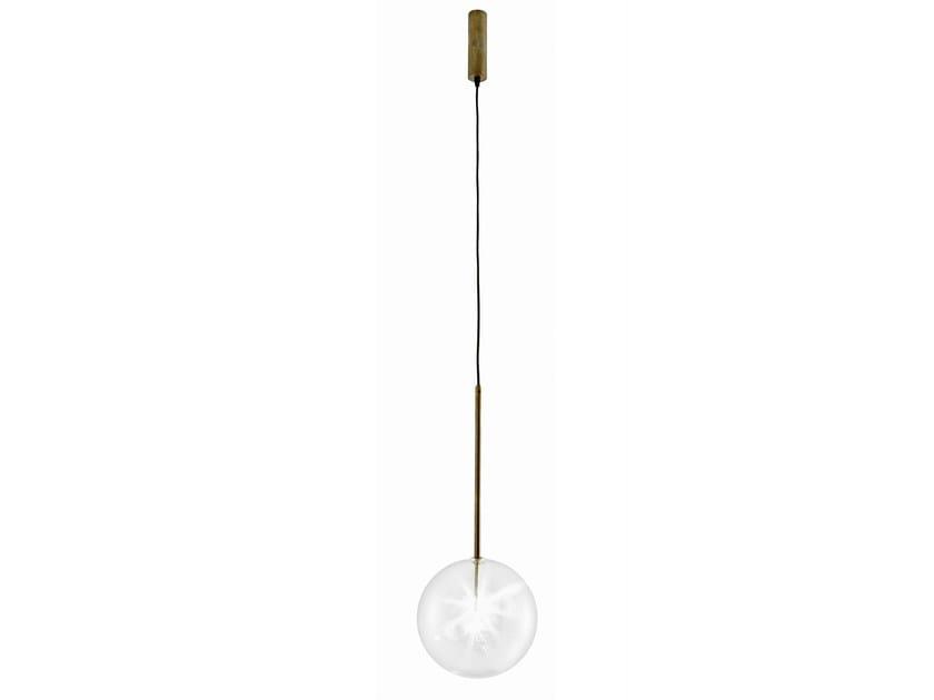 Halogen brass pendant lamp BOLLE SOLA by Gallotti&Radice