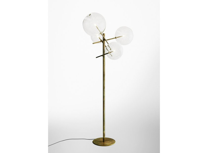 Halogen floor lamp powell by marzais créations design jean paul marzais