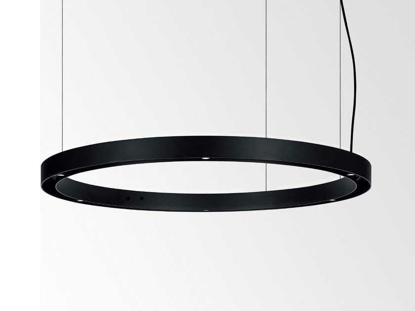 LED direct-indirect light pendant lamp SUPER OH by Delta Light