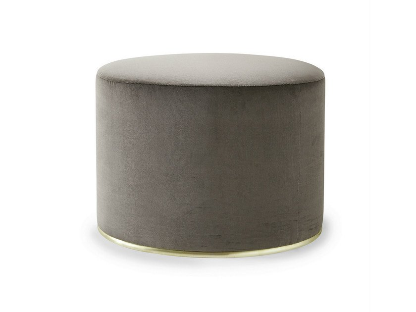 Upholstered velvet pouf LOU by Gallotti&Radice