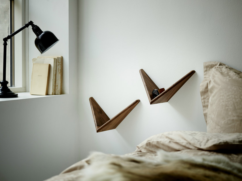 Wooden wall shelf CADOVIUS BUTTERFLY SHELF® by dk3