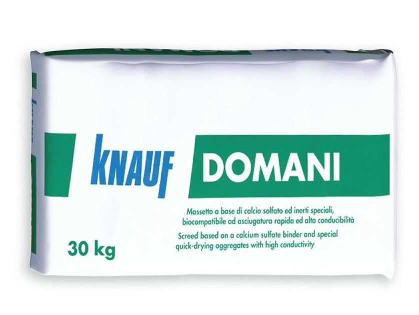 Screed and base layer for flooring DOMANI by Knauf Italia