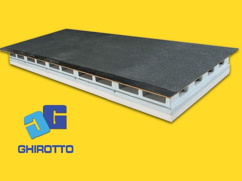 Ventilated roof system AIRVENT 28 PANNELLONE SLATED by GHIROTTO