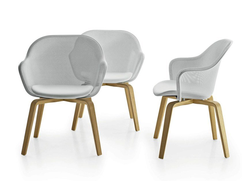 Chair with armrests IUTA '14 by B&B Italia