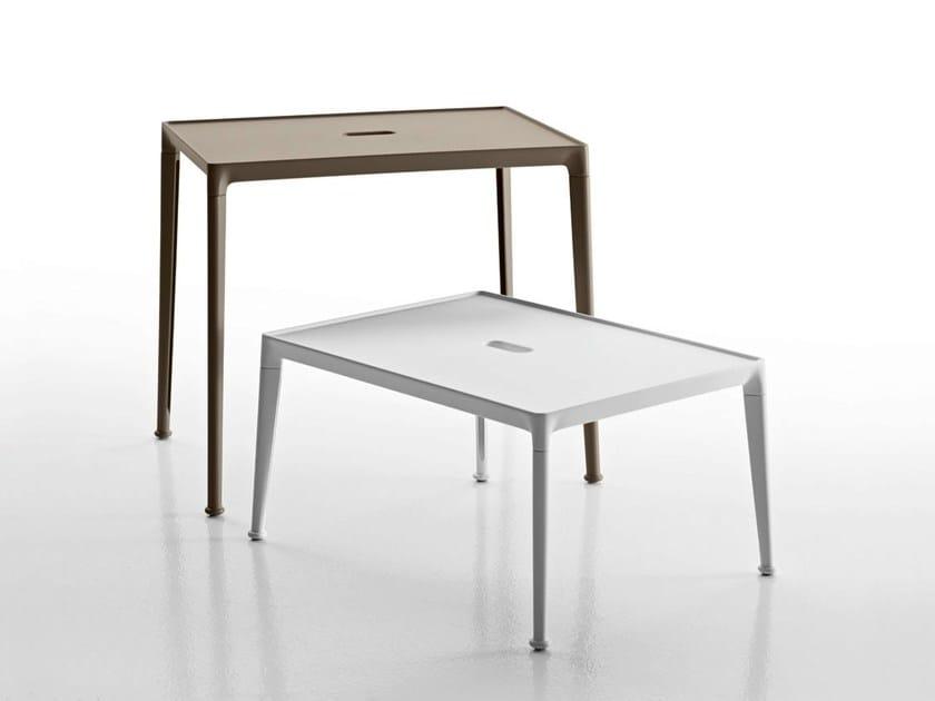 Rectangular aluminium garden side table MIRTO OUTDOOR   Coffee table by B&B Italia Outdoor