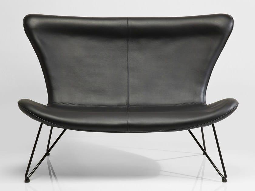 2 seater high-back sofa MIAMI BLACK by KARE-DESIGN