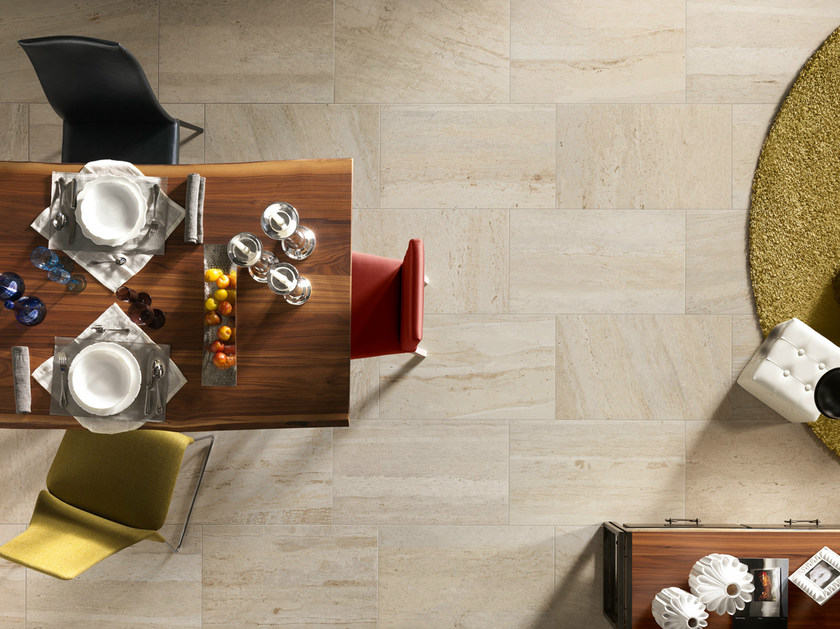 Porcelain stoneware wall/floor tiles with marble effect FLOW AMBER by EDIMAX CERAMICHE