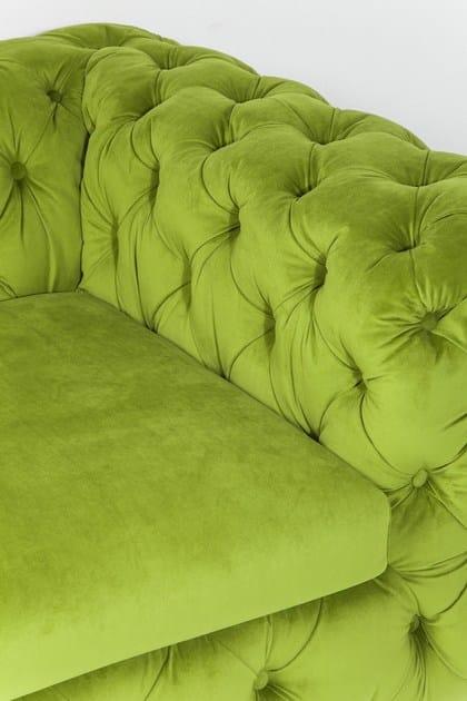 A Posti design My Desire Green In Tessuto 3 Divano Capitonné Kare 6gyY7bf