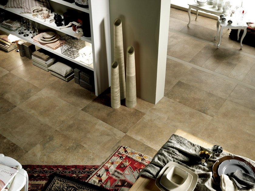 Porcelain stoneware wall/floor tiles with marble effect MATERIA FORTE BRONZEA by EDIMAX CERAMICHE