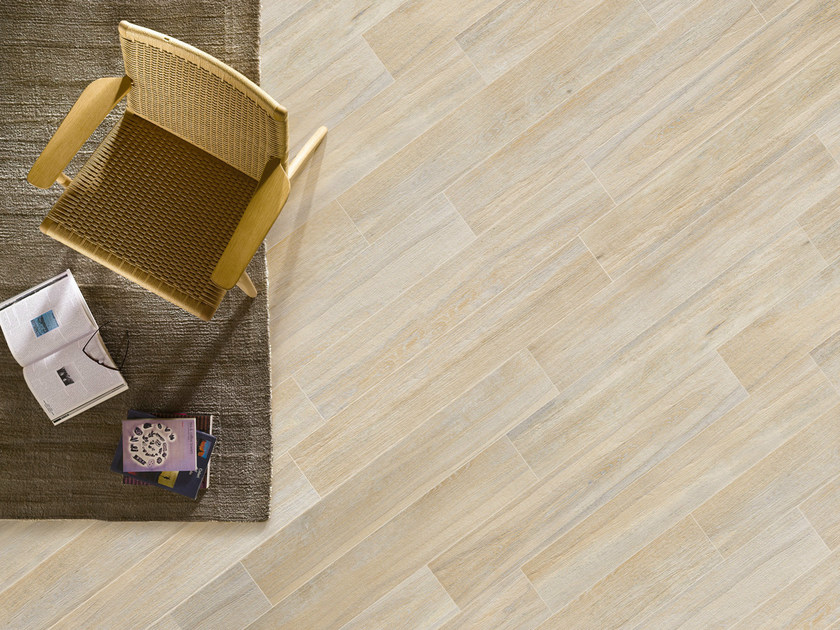 Porcelain stoneware wall/floor tiles with wood effect ELEGANCE BLANCHI by EDIMAX CERAMICHE