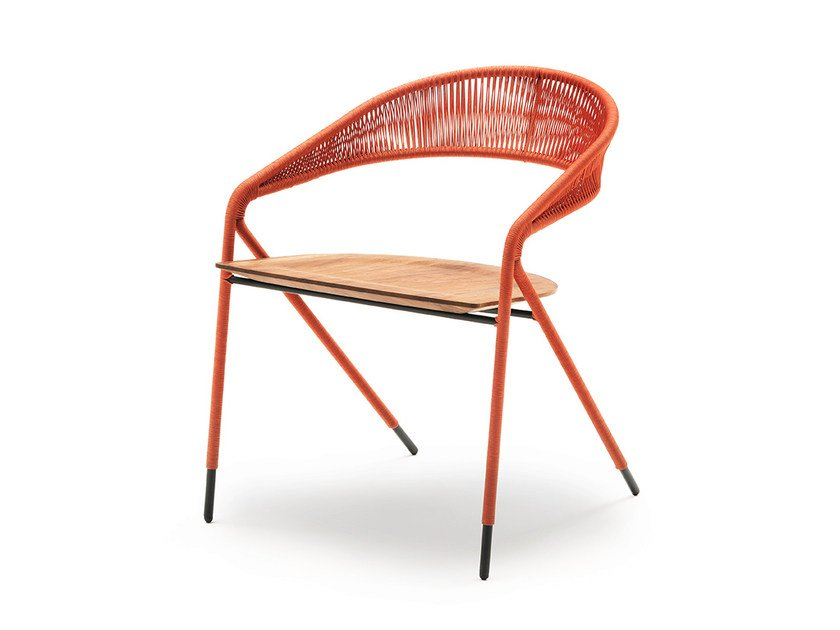 Rope chair with armrests GEORGE'S | Rope chair by Living Divani