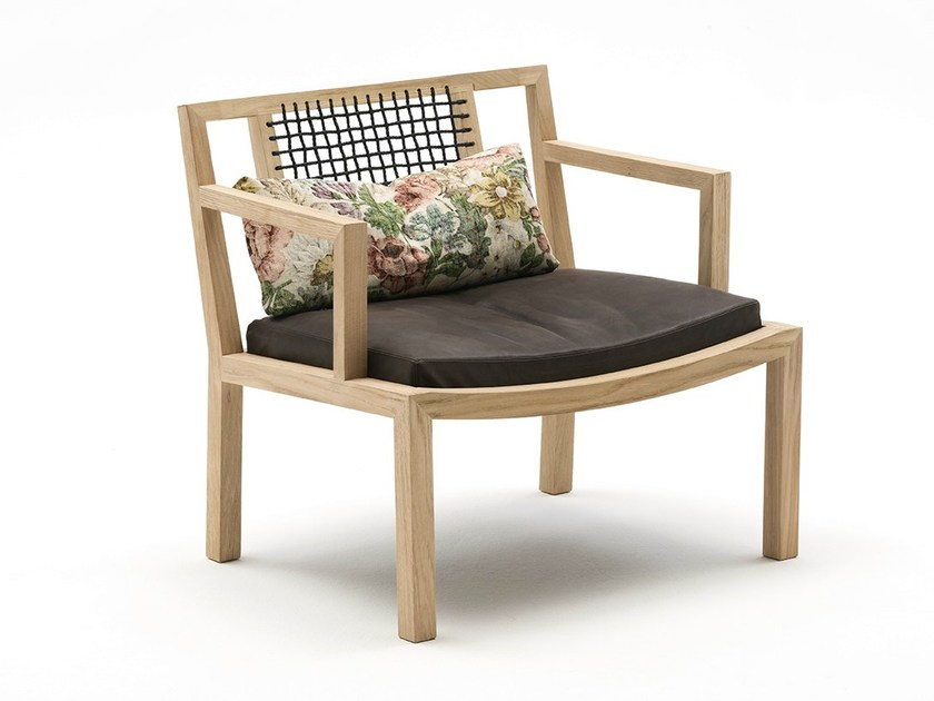 Solid Wood Armchair GRAY By Living Divani
