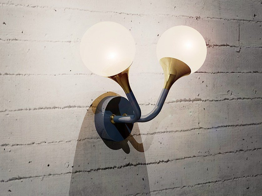 Wall lamp with fixed arm WALL SOLO B by Intueri Light