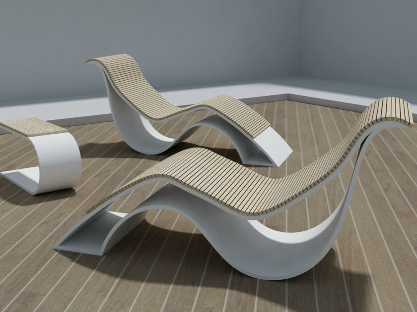 Chaise longue in Solid Surface EPOQUE | Chaise longue by Zuri Design
