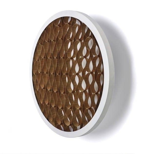 LED handmade wood veneer wall light CERVANTES A by LZF