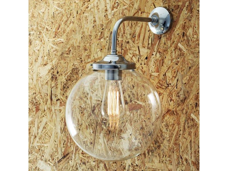Wall lamp BAMAKO 250MM CLEAR GLOBE WALL LIGHT by Mullan Lighting