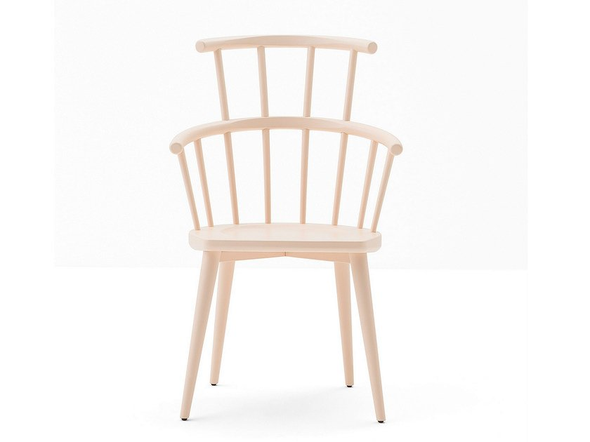 High-back beech chair W. | High-back chair by BILLIANI