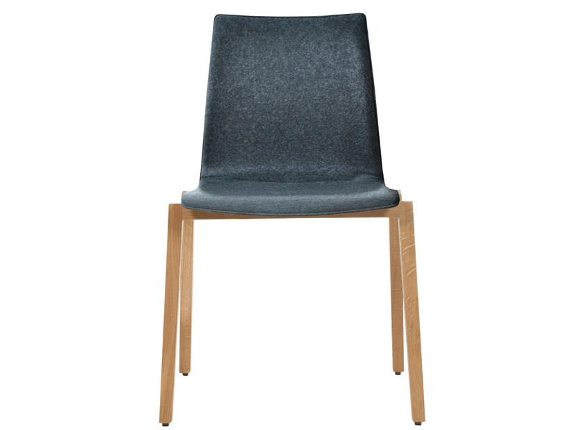 Upholstered stackable fabric chair ALEC PLUS | Upholstered chair by KFF