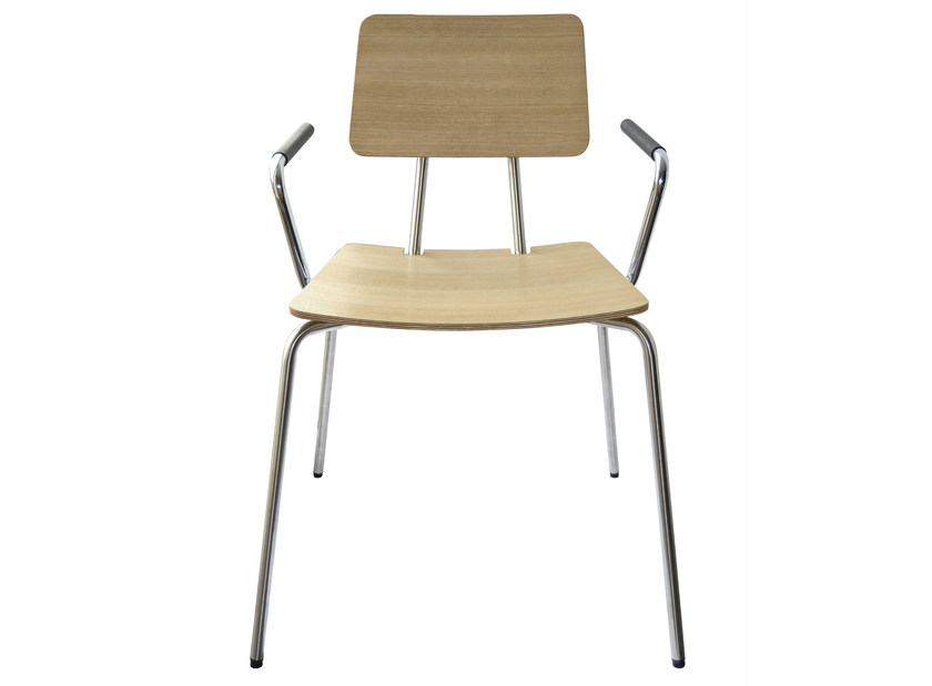 Laminate chair with armrests STAN   Laminate chair by KFF