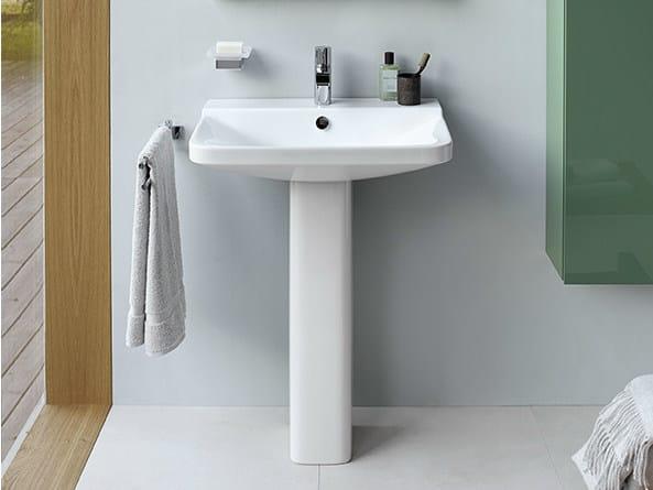 Single pedestal washbasin P3 COMFORTS | Pedestal washbasin by Duravit