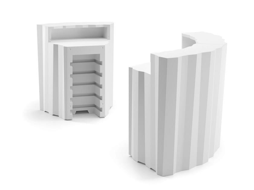 Polyethylene bar counter FROZEN CORNER by Plust