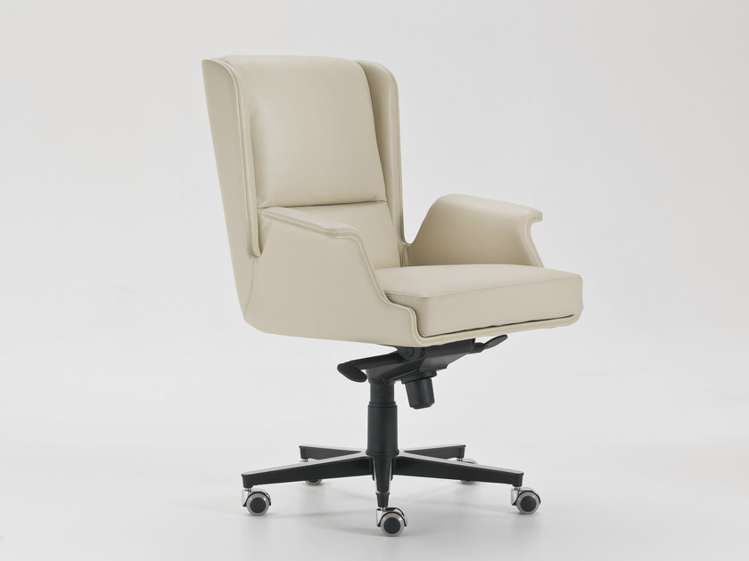 Executive chair with 5-spoke base with armrests with casters GARBO | Executive chair with armrests by i 4 Mariani