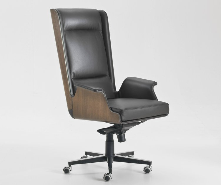 Executive chair with 5-spoke base with armrests with casters GARBO | High-back executive chair by i 4 Mariani