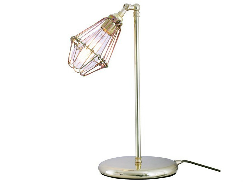 Industrial style adjustable brass table lamp PRAIA | Table lamp by Mullan Lighting