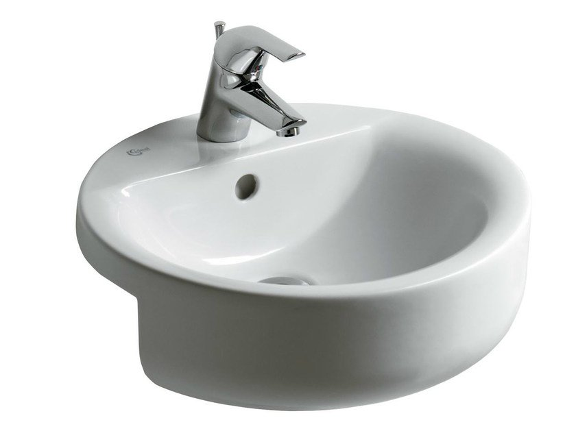 Semi-inset round single washbasin CONNECT 45 x 45 cm - E8065 by Ideal Standard