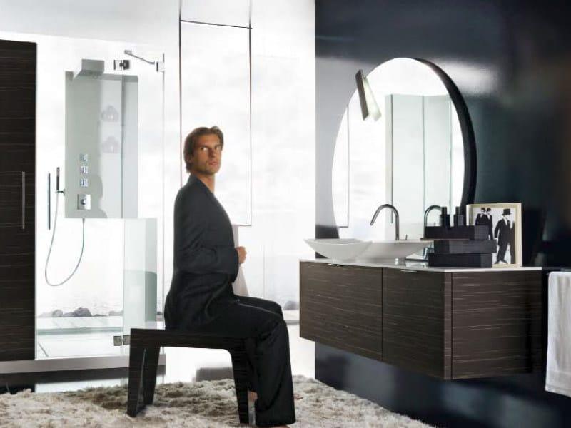 Wall-mounted vanity unit with mirror MAORI 5 | Vanity unit by Cerasa