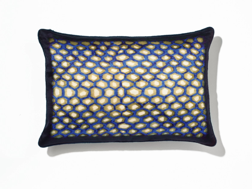 Rectangular silk cushion with removable cover AMBRE by Élitis