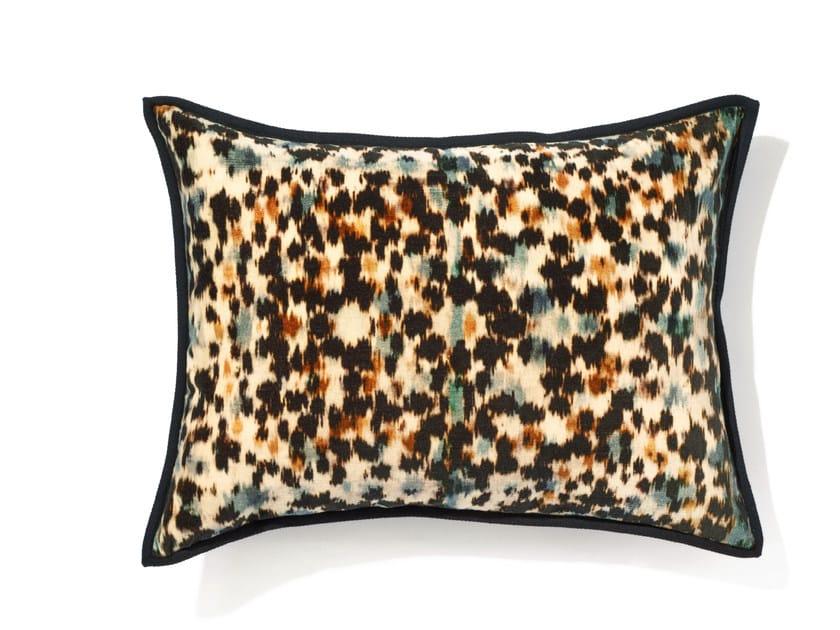 Rectangular cotton cushion with removable cover ARGAN by Élitis