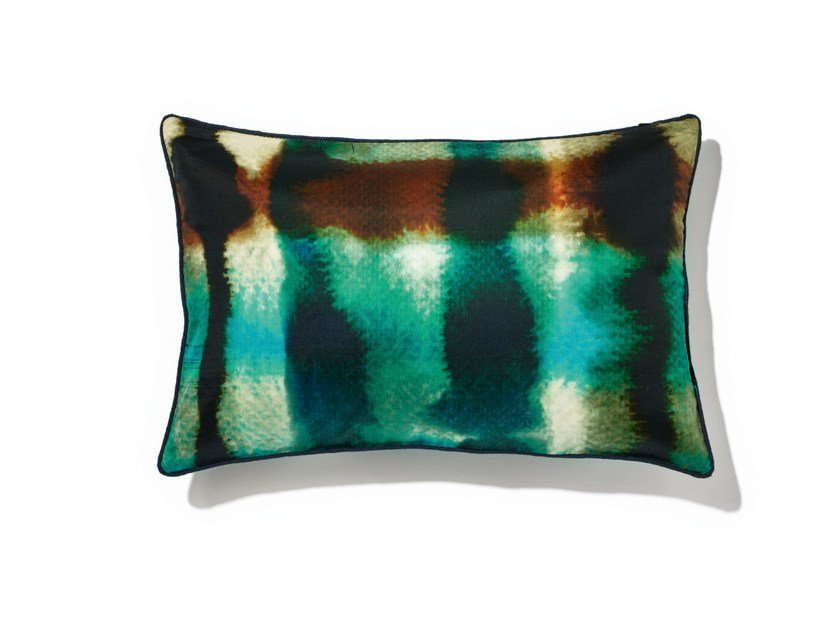 Rectangular silk cushion with removable cover BALIBAR by Élitis