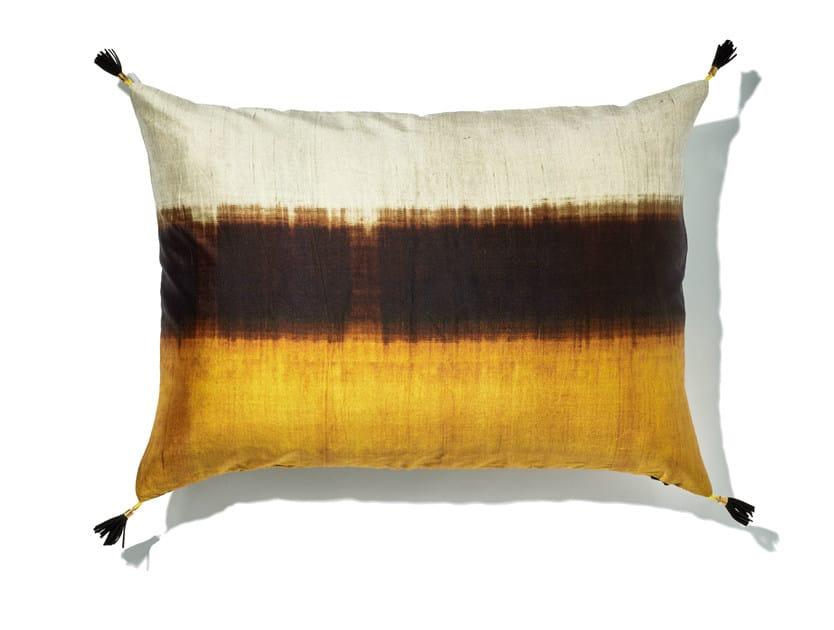 Rectangular silk cushion with removable cover DREAM by Élitis