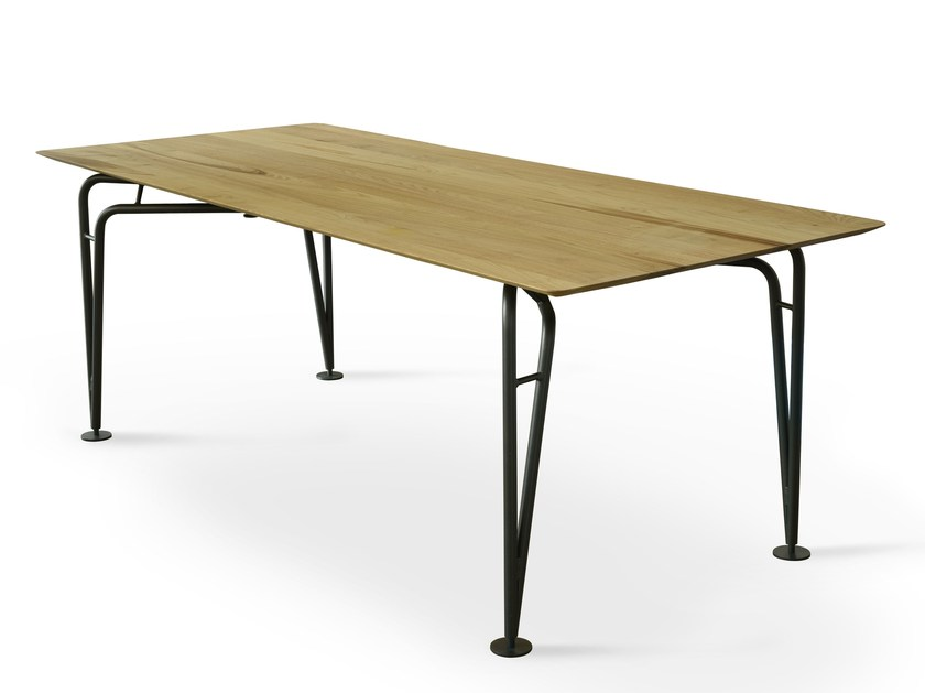 Rectangular wooden table ASYMMETRICAL | Wooden table by Colé Italia