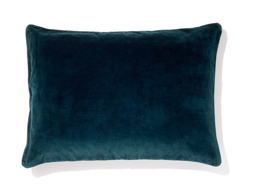 Rectangular velvet cushion with removable cover EURYDICE by Élitis