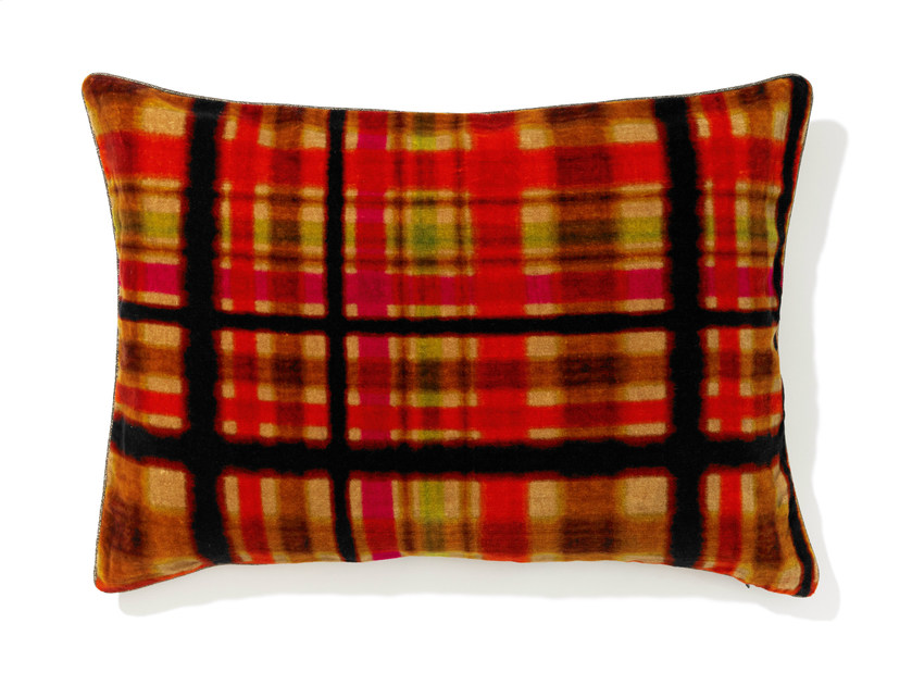 Rectangular cotton cushion with removable cover LOCH by Élitis