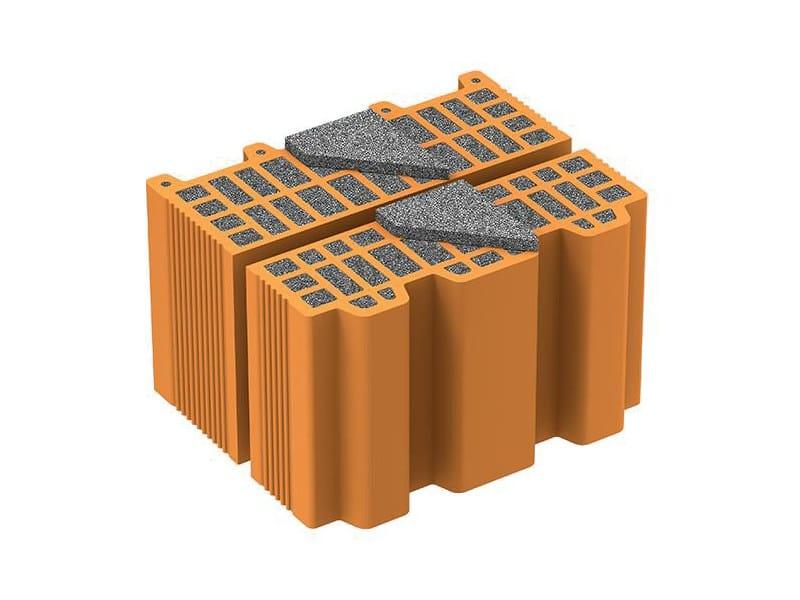 Loadbearing clay block NORMABLOK PIÙ MEZZA S31 by Normablok