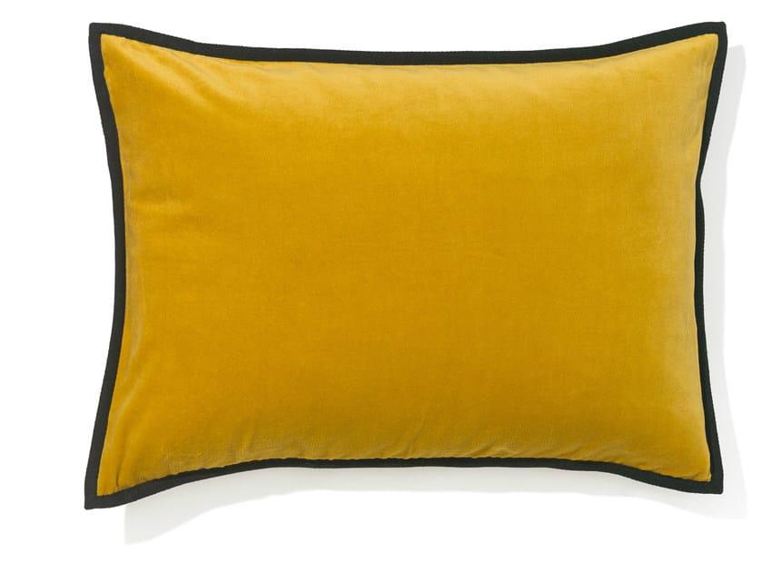 Rectangular velvet cushion with removable cover ORPHEE by Élitis