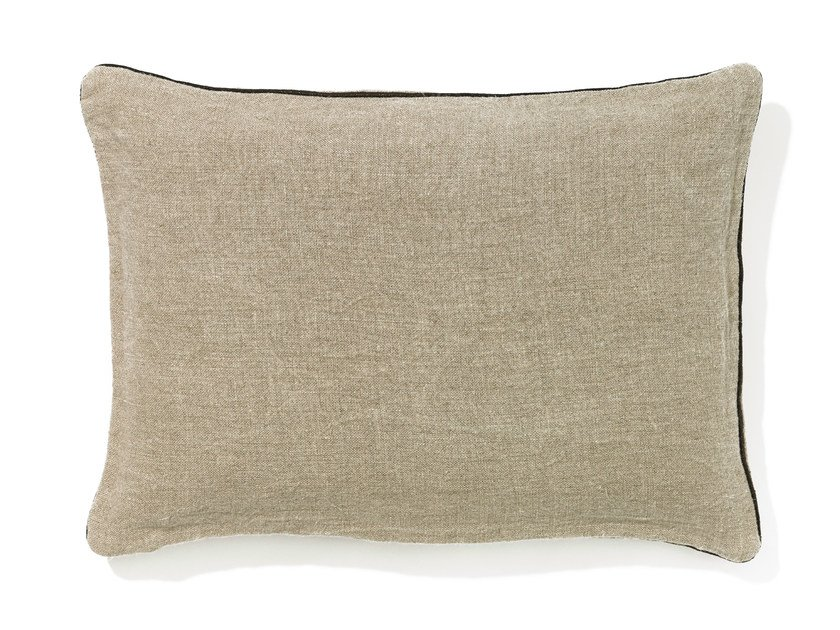Rectangular linen cushion with removable cover SAMA by Élitis