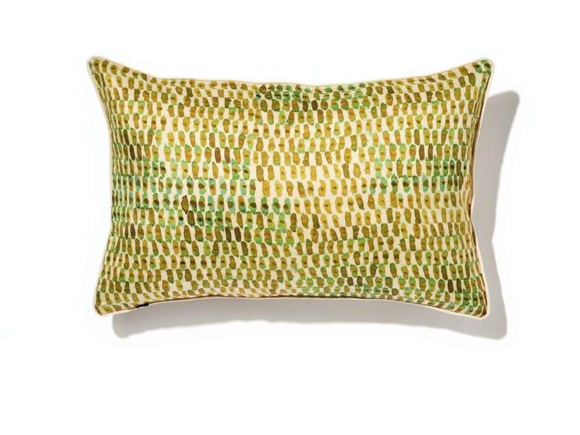 Rectangular silk cushion with removable cover SORIA by Élitis