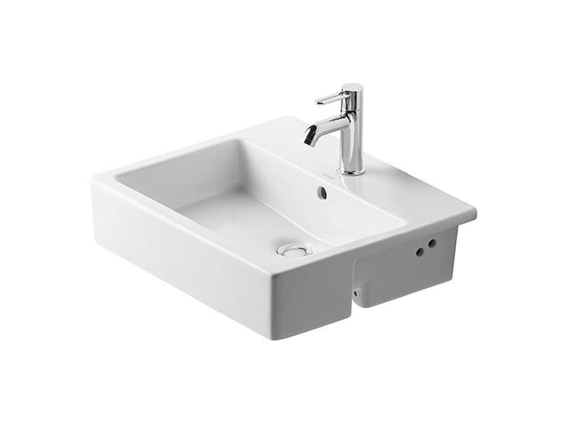 Semi-inset ceramic washbasin VERO   Semi-inset washbasin by Duravit