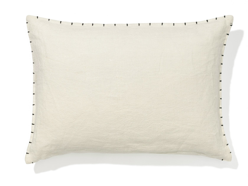 Rectangular linen cushion with removable cover VEDA | Cushion by Élitis