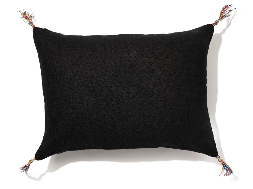 Rectangular linen cushion with removable cover TINTO by Élitis