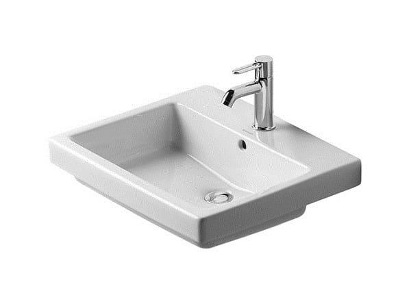 Inset rectangular ceramic washbasin VERO | Inset washbasin by Duravit