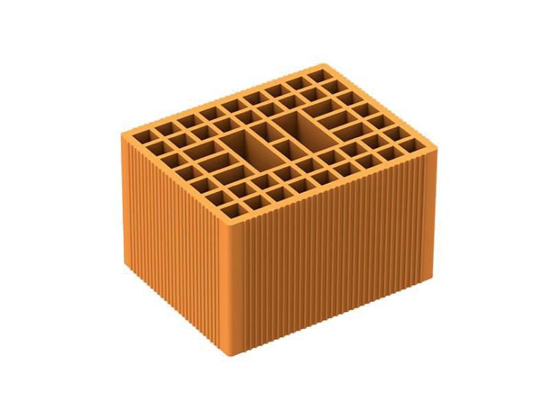 Thermal insulating clay block POROTON P600 by DANESI LATERIZI